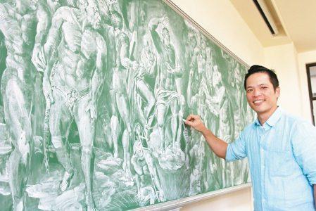 超神 教授粉筆繪《最後的審判》/翁漢騰老師